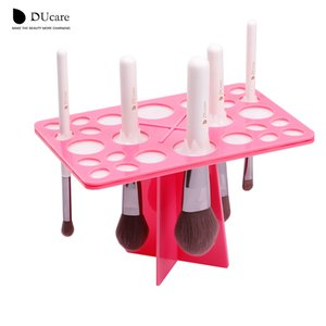 DUcare 1 Set Makeup Brushes Stand Acrylic Dry Brushes Holders pink and black can choose make up tools