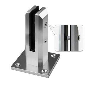 Barandillas cuadradas Barandillas Aluminio Vidrio Espiga Piscina Valla Sin marco Balaustrada Espiga Abrazadera Traje 10mm 12mm Vidrio