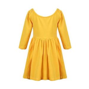 1 2 3 4 5 6 Year Girls Dress 2018 Nouveau Coton Casual Enfants Princesse Vêtements O-cou Été Automne Enfants Vêtements pour Filles