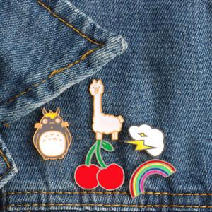 1 Pçs / set Dos Desenhos Animados Totoro Cereja Nuvem Rainbow Sheep Pins Broche Bonito Presentes de Jóias para Crianças Mulheres Homens Pin Jaqueta Jeans Pin Emblema