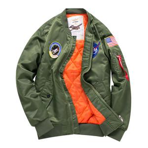 Alta Design di Stile Spesso Mens Ma1 Bomber Giacca Pilot Jacket Uomini Volanti Ricamo Tigre Sport Windbreak Sweethearts Outfit Jacket