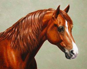 Obra de arte -morgan-horse-flam- Arte moderno de lienzo sin marco para decoración de hogar y oficina, pintura al óleo, pinturas de animales, marcos