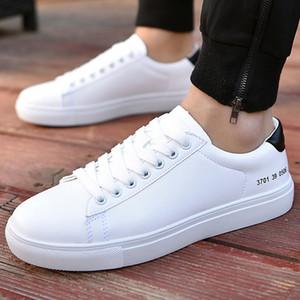 chaussures pour hommes occasionnels espadrilles mode solide design blanc pour les étudiants PU mesh respirant inusables cuir chaussures hommes