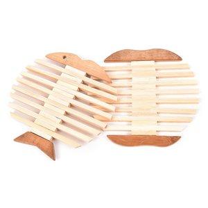 Mutfak Balık için yenilik Öğeleri Elma Paern Ahşap Placemat Potholder Kupası Coaster Isı Yalıtım Yaratıcı Tasarım Güzel Mat