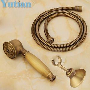 Antique chuveiro sets Latão mão de chuveiro de bronze mão sólida + 1.5M mangueira