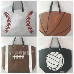 Faltbare Einkaufstasche Polyester-Faser Printed tragbare Aufmaß Handtaschen Baseball-Softball-Mode Tasche Viele Arten 17yh ZZ