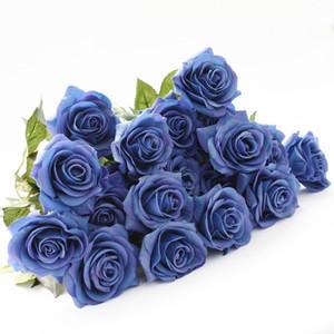 Festif 8 Têtes Coloré Fleurs En Latex Fleur Artificielle Rose Décor À La Maison pour le Mariage Petit Réel Toucher Roses Bouquet Décoration