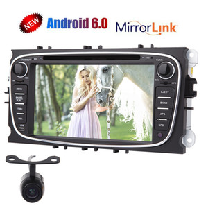 كاميرا الرؤية الخلفية EinCar Android 6.0 Car dvd Stereo for Ford Focus Mondeo 7''Capacitive Touchscreen Double Din In Dash GPS Navigation Vehicle