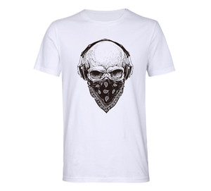 New European and American men's short sleeve monogrammed skull T-shirt s-3xl