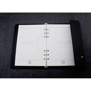 Tapa dura cuaderno diario personal productos de papelería Agenda Negro Organizador Personal Travel Office Diary Portable Office Supplies hebilla