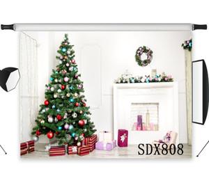 الجملة البوليستر الفينيل شجرة عيد الميلاد الهدال حلقة هدايا الخلفيات خلفية للاستوديو التصوير صورة خلفية الدعائم ديكور