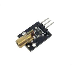 10 pçs / lote KY-008 650nm Módulo de sensor a Laser 6mm 5 V 5 mW Vermelho Laser Dot Diodo Cabeça De Cobre para Arduino