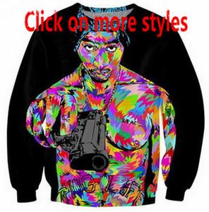 Nova Moda Casais Homens Mulheres Unisex Tupac Shakur 3D Impressão Hoodies Camisola Camisola Jaqueta Top A47