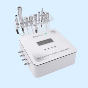 Multi 7 em 1 Micro Rf Máquina Facial Atual sem injeção de agulha multifunções RF + dermoabrasão + refrigeração + oxigênio + dispositivo de mesoterapia galvânica