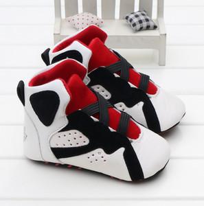 Moda PU Deri Yenidoğan Erkek Bebek Kız Bebek Yumuşak Ayakkabı Yumuşak Soled kaymaz Ayakkabı
