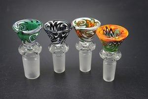 Стеклянные Бонг Слайды с 14мм стеклянная чаша 18мм стеклянная чаша для курительных Bubbler кальян Oil Rig