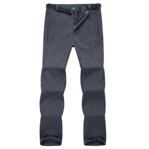 outdoor Winter ski pants men solft shell pants plus size waterproof snow thicken fleece hiking pant snowboard trousers