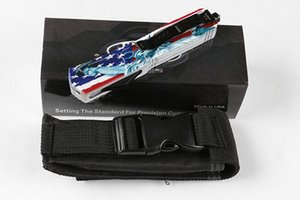 Recemmend mic Ant (amerikanische Flagge Muster) Jagd-faltendes Taschen-Messer-Überlebens-Messer-Weihnachtsgeschenk für Männer A07 A16 D2 ZT 1pcs Freeshipping