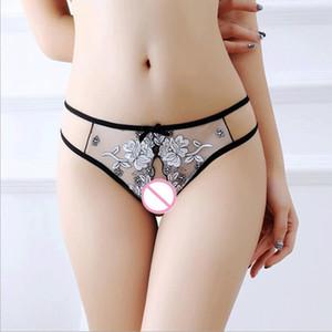 Sexy Femme Ouvert Crotuch Briefs Culottes Sexy Femmes Broderie Dentelle Sous-Vêtements Femmes Underware Pour Lady Lingerie Intimates