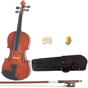 4 4 3 4 1 2 1 4 1 8Violin Natural Maple Wood Acoustic Violin With Case, Rosin, Bow
