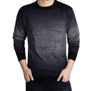 2018 Cashmere Sweater Men Brand Clothing para hombre suéteres Imprimir Hang Pye Casual camisa de lana pullover hombres Tire O-Neck Dress