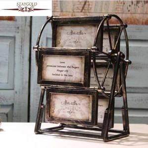 Колесо обозрения фоторамка ретро ветряная мельница фоторамка винтажная рамка фото украшения дома аксессуары Marco De Fotos