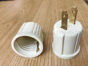 접지가 필요없는 우사 플러그 Ploarized Socket Adaptor 콘센트를 E26 램프 소켓으로 변환합니다. 125V 2-Wire NEMA 1-15P 검정색 125VAC 660W MYY