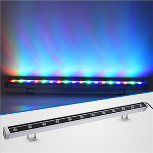 de pared LED arandela RGB 36W wallwasher luces de inundación LED tinción luces de barra de luz barlight paisaje reflector iluminación AC 85V-265V LED