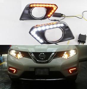 Freies verschiffen Für Nissan X-trail Xtrail T32 2014 2015 2016, Gelbes Signal Funktionsrelais Wasserdichtes 12 V Auto DRL LED Tagfahrlicht