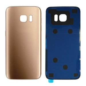 10pcs Back Glass Cover replacement For Samsung GALAXY S7 G930 S7 Edge G935 Rear Housing Battery Door Rear Adhesive parts with doub logo