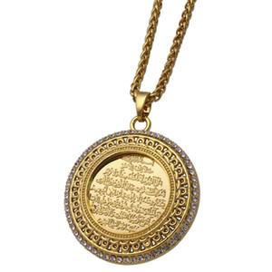 Zkd AYATUL KURSI kristal Kolye kolye İslam müslüman Arap Tanrı Messager Hediye takı