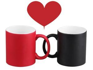 Tasse magique respectueuse de l'environnement Photo personnalisée couleur de chaleur changeant de tasse Morph Mug 300ml tasse de café au lait de bière avec cadeau Cookie