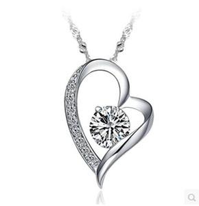 I diamanti di alta qualità di cristallo austriaco Dichiarazione amore cuore ciondolo gioielli collana di modo Classe donne ragazze Lady Elementi