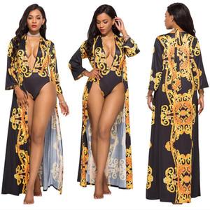 Costumi da bagno sexy da donna, bella stampa, abbigliamento da spiaggia da donna, body, tute con costumi da bagno, set due pezzi