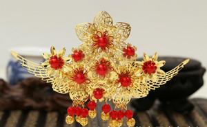 Nueva novia de estilo clásico chino palacio de la flor del oro Phoenix tocado tocado de los accesorios chinos cheongsam antiguo al por mayor