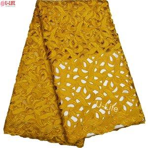 Tissus de dentelle de coton de haute qualité coupés à la main Broder africain dentelle suisse Matériel Africain doux grande robe de dentelle de coton BG-092