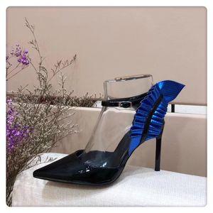 2018 new LTTL Custom made Top quality Sheepskin inside luxury designer Black Patent Leather Thrill Heel Pumps Women Tribute Leather Sandals