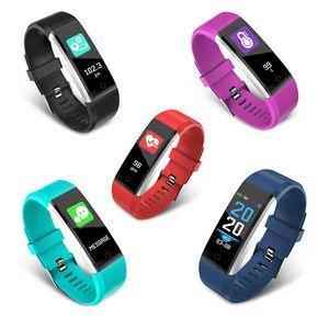ID 115 Plus Smart Bracelet Smartband Sport Wristband Fitness Activity Tracker Podómetro Heart Rate Monitor de presión arterial para Android iOS