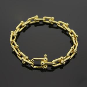 Yüksek kalite Sıcak marka u-tipi titanyum çelik bilezik 18 K altın gül hediye gelişmiş hediye seti ile gül bilezik