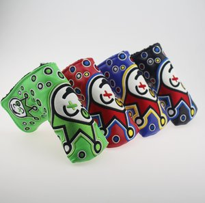 4Options Clown ricamo Golf Putter coprilama Headcover