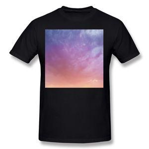 Bester Verkauf männlich 100% Baumwolle bunte Himmel T-Shirt männlich O Hals weiß Kurzarm T Shirts große Größe lustige T-Shirt