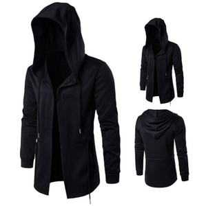 New Fashion Uomo Felpe con cappuccio Hip Hop Mantle Hoodies Jacket Manica lunga Mantello Cappotto maschile Outwear