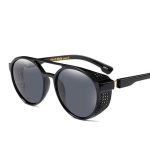 Mode-Sonnenbrille für Männer Neue retro hohe Qualität europäischen und amerikanischen Mode runden Rahmen Sonnenbrille 7 Farbe