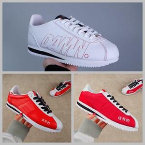 2018 cortez x kendrick lamar lanet qs deri eğlence nlyon beyaz kırmızı erkek kadın rahat ayakkabılar moda tasarımcısı çalışan sneakers 5.5-10