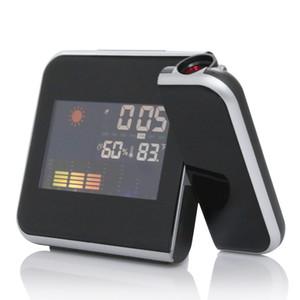 Proyector de alarma digital Proyección de pantalla a color Reloj de alarma multifunción Tiempo del tiempo Reloj de escritorio Reloj Pantalla LCD de alta calidad