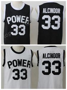 세인트 요셉 CT 전원 유니폼 남자 고등학교 농구 33 루이스 Alcindor Jr 저지 팀 블랙 멀리 흰색 순수한 면화 최고 품질