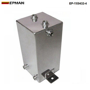 EPMAN Aluminum 4 LITRE ALLOY FUEL SWIRL SURGE TANK An6 -6 Polished EP-YX9432-4   TK-YX9432-4 For Universal