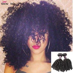 8А бразильский волос Afro Kinky завитые 4 Связки Оптовая Дешевые перуанский малазийский Bouny завитые 100% человеческих волос Связки