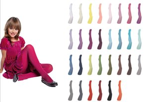Girls Tights Plain Very Soft Opaque 40 Denier Microfibre Age 2-12 Years In 30 Various Colours