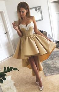 2019 barato querida pescoço vestidos de cocktail branco apliques oi baixa hombre vestidos de festa vestidos de baile personalizado feito venda quente